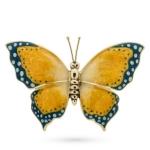 Бабочка большая серебро с эмалью ST229G-1