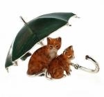 Зонт с котятами с эмалью ST352