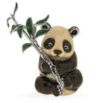 Панда с веткой серебро эмаль ST664