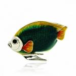 Рыбка средняя серебро с эмалью ST227C-2