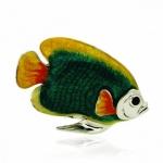 Рыбка малая серебро с эмалью ST227C-3