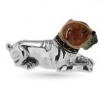 Бульдог малый серебро ST167-3
