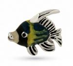 Рыбка серебро эмаль ST468