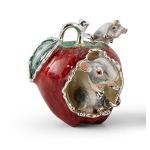 Мыши в яблоке серебро эмаль ST754-1