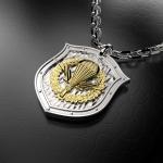 Серебряный амулет ВДВ РОССИИ (серебро 925 пробы)