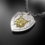 Серебряный амулет РЫСЬ (серебро 925 пробы)