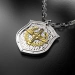Серебряный амулет ВВС РОССИИ (серебро 925 пробы)