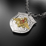 Серебряный амулет Министерство Обороны РОССИИ (серебро 925 пробы
