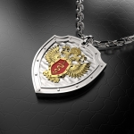Серебряный амулет ФСКН РОССИИ (серебро 925 пробы)