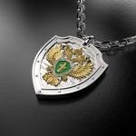 Серебряный амулет Прокуратура РОССИИ (серебро 925 пробы)