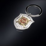 Серебряный брелок МВД РОССИИ (серебро 925 пробы)