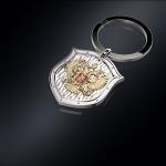 Серебряный брелок ГЕРБ РОССИИ (серебро 925 пробы)