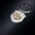 Серебряный брелок ВВС РОССИИ (серебро 925 пробы)