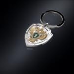 Серебряный брелок Прокуратура РОССИИ (серебро 925 пробы)