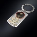 Серебряный брелок-жетон МОРПЕХ РОССИИ (серебро 925 пробы)