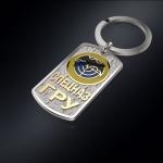 Серебряный брелок-жетон СПЕЦНАЗ ГРУ (серебро 925 пробы)