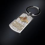 Серебряный брелок-жетон Министерство обороны РОССИИ (серебро 925
