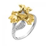 Золотое кольцо с бриллиантами ИРИС К-14041
