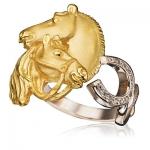 Золотое кольцо с бриллиантами СТЕПНАЯ СИМФОНИЯ К-24035