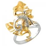 Золотое кольцо с бриллиантами ВИВЬЕН К- 14055