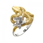 Золотое кольцо с бриллиантами ЭФА К -24053