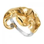 Золотое кольцо с бриллиантами БЛЮЗ К - 14050