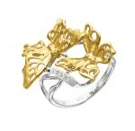 Золотое кольцо с бриллиантами БАБОЧКА АЖУРНАЯ К - 24024