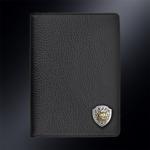Кожаная обложка для паспорта РЫСЬ