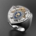 Серебряный перстень СК РОССИИ (серебро 925 пробы)