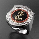 Серебряный перстень МОРПЕХ (серебро 925 пробы)