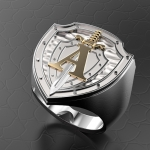 Серебряный перстень ЦСН АЛЬФА (серебро 925 пробы)