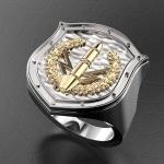 Серебряный перстень РАКЕТЧИК (серебро 925 пробы)
