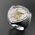 Серебряный перстень РЫСЬ (серебро 925 пробы)