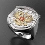 Серебряный перстень ГЕРБ РОССИИ (серебро 925 пробы)