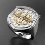 Серебряный перстень ВВС РОССИИ (серебро 925 пробы)