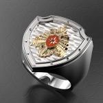 Серебряный перстень МЧС РОССИИ(серебро 925 пробы)