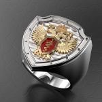Серебряный перстень ФСКН РОССИИ (серебро 925 пробы)