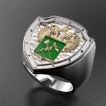 Серебряный перстень ФТС РОССИИ (серебро 925 пробы)