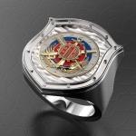 Серебряный перстень ВПК России (серебро 925 пробы)