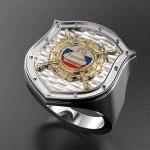 Серебряный перстень ДПС ГИБДД МВД России (серебро 925 пробы