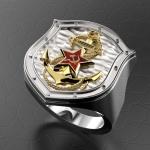 Серебряный перстень ВМФ(серебро 925 пробы)