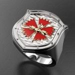 Серебряный перстень ГРУ ГШ МО России (серебро 925 пробы)