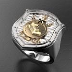 Серебряный перстень Строительные войска (Спецстрой) (серебро 925