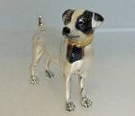 Статуэтка Собака породы Терьер серебро ST138