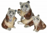Статуэтки из серебра Три медведя
