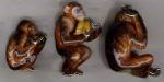 Три обезьяны с эмалью ST379.