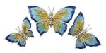 Бабочки серебро с эмалью ST229