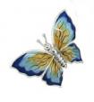 Бабочка малая серебро с эмалью ST229-3