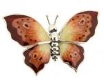 Бабочка большая серебро с эмалью ST229A-1