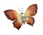 Бабочка средняя серебро с эмалью ST229A-2
